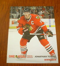 "JONATHAN TOEWS PHOTO 8"" x 10"" GLOSSY COLOR CHICAGO BLACKHAWKS ONE GOAL SERIES"