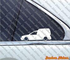 2x Lowered car outline stickers - for Volkswagen CADDY 9k Mk2 vw van VAG