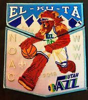 EL-KU-TA OA LODGE 520 GREAT SALT LAKE UT 508 535 2-PATCH 2018 NOAC NBA UTAH JAZZ