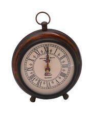 Desk Clock Table Clock Antique Vintage Collectible replica Decor Wood Clock
