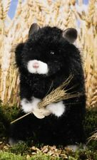 Black Field Hamster by Kosen / Kösen - collectable plush soft toy rodent - 7340