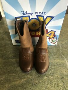 Toy Story 4 Sheriff Woody Brown Cowboy Boots Tod Boys 7 W/ side zippers & Lights