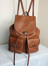 Coach Leather Brown Grab Bag Rucksack Backpack Handbag N74