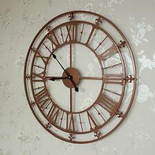 GRANDE RAME DIPINTO SCHELETRO Orologio da parete shabby chic vintage regalo