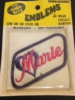 Vintage The Show Offs Marie Name Patch Beautician Uniform Embroidered NOS