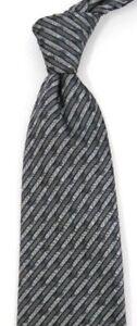 "Gray Silver Striped UNGARO Silk Tie 3.9"" Wide 59"" Long"