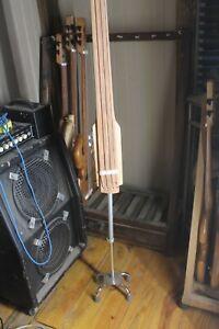 """EUB Bass Fretless 4 String Maple Wishbass 36"""" Scale Stick Bass Piezo Pickup"""