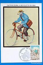 FACTEUR A BICYCLETTE  FRANCE  Carte Postale Maximum FDC Yt C 1710