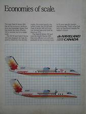 11/87 PUB DE HAVILLAND CANADA BOEING DASH 8 SERIES 100 300 AIRCRAFT ORIGINAL AD