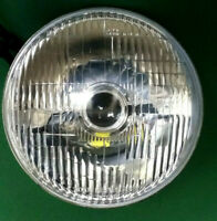 """CLASSIC 7"""" PROJECTOR HEADLAMPS - HOT ROD - CUSTOM - STREET - CURVED RIBBED GLASS"""