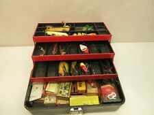 Vintage Union Tackle Box of Vintage Fishing Lures and Empty Lure Boxes
