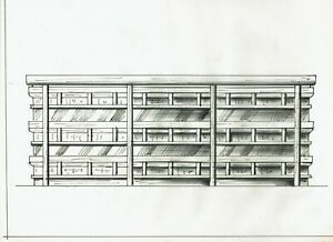 Original Mid Century Furniture Design Sketch Dresser Pulaski 1960's 1970's