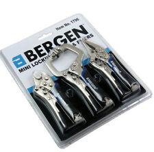 BERGEN 3Pc Mini Welding Vice Lock Locking C-Clamp & Nose Pliers with Grips Mole