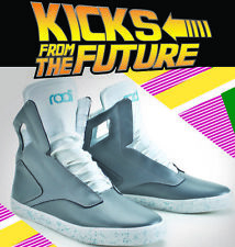 Radii x Back to the Future~Noble Hi Top~Size 12~Grey/Blue/White~Rare~AIR MAG