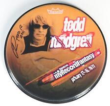 "TODD RUNDGREN Signed Autograph 12"" Drum Head Drumhead"