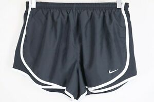 Nike Womens Size Large Dri Fit Black White Lined Tempo Running Shorts