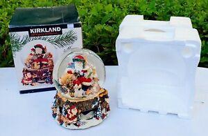 Kirkland Santa Claus w/ Animals Rotating Tis The Season Musical Snow Globe LARGE