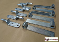 "6 x Trailer 6"" Straight Hinge & Gudgeon Pin Zinc Plated Set Tipper Truck HGV"
