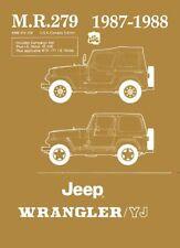 1987 1988 Jeep Wrangler YJ Shop Service Repair Manual Engine Drivetrain Wiring