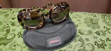 Prada Women's Baroque Tortoise Shell Look Fashion Sunglasses With Case
