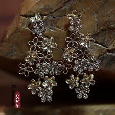 Boucles d'Oreilles Clous Grosse Fleur Creux Original Soirée Mariage Cadeau XX 7