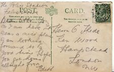 Family History Postcard - Thede - Ken Wood - Hampstead - London - Ref 1913A