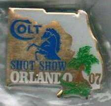 2007 FLORIDA SHOT SHOW ORLANDO COLT FACTORY LAPEL PIN NEW CONDITION