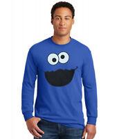 Sesame Street Cookie Monster Face Long Sleeve T-Shirt