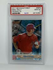 2011 Bowman's Best Mike Trout PSA 10