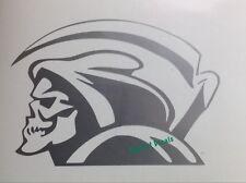 Grim Reaper Decal Sickle Car Truck Motorcycle Wall Locker Vinyl Window Sticker