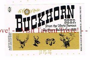 Unused 1970s TEXAS San Antonio Lone Star BUCKHORN BEER 12oz Label Set