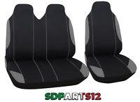 2+1 Nero Grigio Tessuto Coprisedili Per Renault Trafic Master