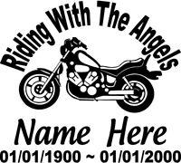 """In Loving Memory 14/"""" Cowboy Kneeling Cross Decal Window car custom Memorial"""