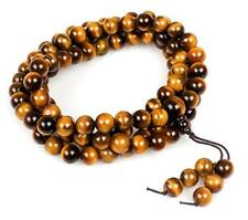 8mm Tiger Eye Healing Gemstone 108 Tibetan Buddhist Prayer Beads Mala Bracelet