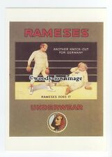ad0719 - Rameses Underwear - Boxing Ring , Knock Out -  Modern Advert Postcard