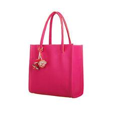 Fashion Womens Bag Handbags Leather Shoulder Bag Candy Color Flowers Large Totes