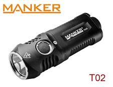 New Manker T02 (Warm) Cree XHP35 1500LM LED Flashlight Torch ( AA, 14500 )