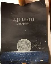 Jack Johnson Auto Signed Live At Third Man Records Poster 6/15/13 JSA #J03722