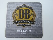 Beer Bar COASTER: DEVIL'S BACKBONE Brewing Co American IPA ~ SIXPOINT Brewery