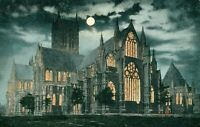 Lincoln Cathedral at Night (Valentine's Series) 1930s