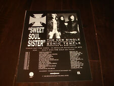 "The Cult 1990 ad for ""Sweet Soul Sister"" Ian Astbury, Billy Duffy, John Tempe"