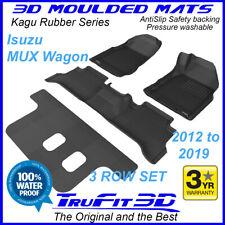 Suits ISUZU MUX MU-X Wagon 2012 - 2019 Genuine 3D Black Rubber Car floor Mats 3R