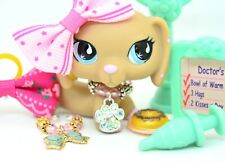 Littlest Pet Shop AUTHENTIC Repaired 909 Dachshund Dog Ink Initial & Other Flaws