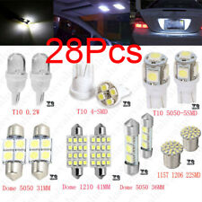 28Pcs Auto Car Interior LED Light Dome License Plate Mixed Lamp Set Accessories