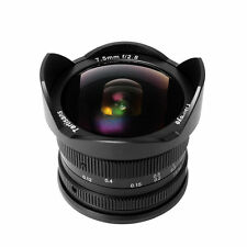 7artisans 7.5mm f/2.8 Manual focus Fisheye Lens for Canon EOS M mount EF-M M10