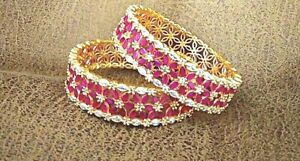Latest collection Multicolored Gold plated Set of Four Bangles Floral Design Wow