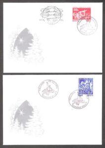Estland 1993 Estonia 2  stamps 2 FDC Christmas Mi 216-7