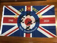 Battle Of Britain Spitfire World War 2 II RAF 80th Anniversary Flag 1940 2020 UK