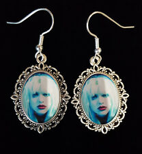 Courtney Love Hole Antique Silver Drop Earrings Music Icon 90's CD LP