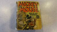 Mickey Mouse Runs His Own Newspaper 1937 Whitman BLB Big Little Book